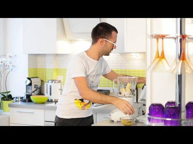 Бананово-клюквенный смузи - простой и вкусный рецепт