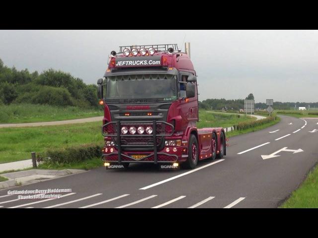 Scania V8 Sound! Staight Pipes of Jeftrucks - Truckstar Festival 28 juli 2016