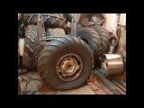 Шина ободрыш ГАЗ-66, диск самодельный для СОБОЛЬ 3х3
