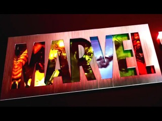 Презентация нового официального логотипа студии Marvel на Comic Con 2016