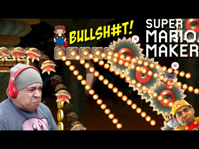 LOOK AT ALL THIS BULLSHT!! [SUPER MARIO MAKER] [40]