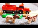 Vidéo éducative. Trains et voitures: un tracteur à la ferme