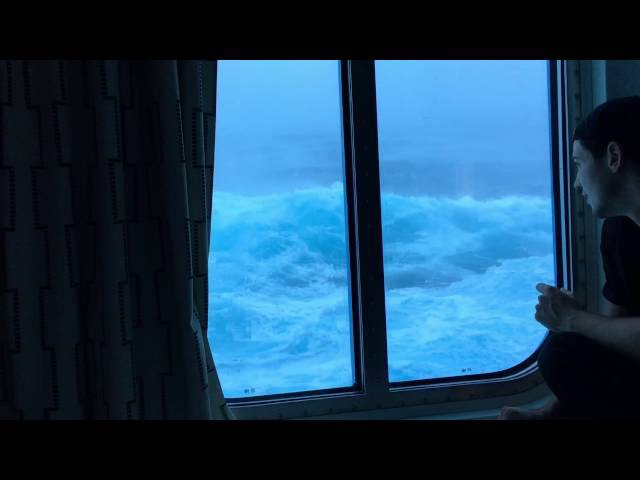 Anthem Of The Seas Vs huge waves and 120 mph winds. Viewed from my room on the third floor!