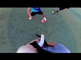 Первая футбольная игра малыша