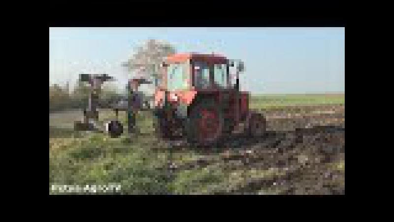 MTZ 550 RabeWerk és az ifjú Szakember! PloughingPlowingSzántás
