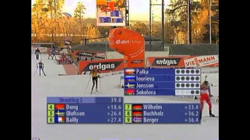 Биатлон. Кубок мира 2006-2007. 1 этап. Эстерсунд. Женская гонка преследования