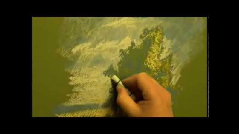Как научиться рисовать,пастель_ деревья