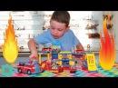 Пожарная станция игровой набор Мультики про машинки Fire station playsat New toys review and play
