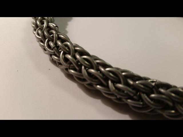 Плетение Candy Cane Cord. Плетение из колец. Как сделать цепочку? Урок 8.