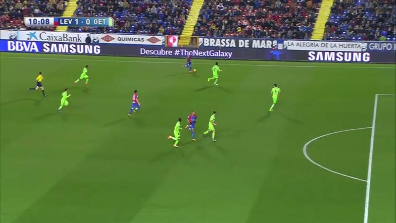 Леванте - Хетафе, 1-0, гол Моралеса, голевая Росси