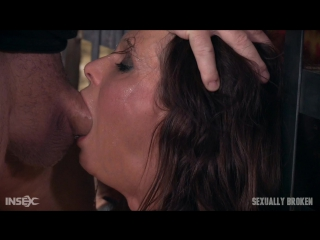 Syren De Mer - Hot Cougar is bound, face fucked and made to cum over and over. Brutal deep throat, massive orgasms! (2016)  BDSM