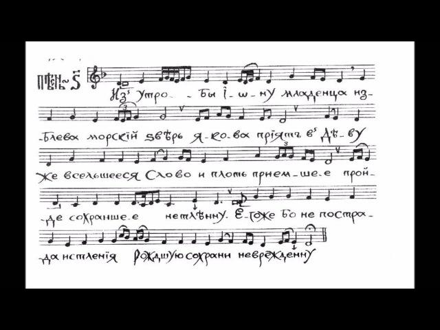 Ирмосы Рождества Христова Византийского распева