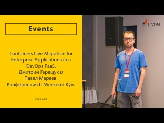 Containers Live Migration for Enterprise Applications in a DevOps PaaS