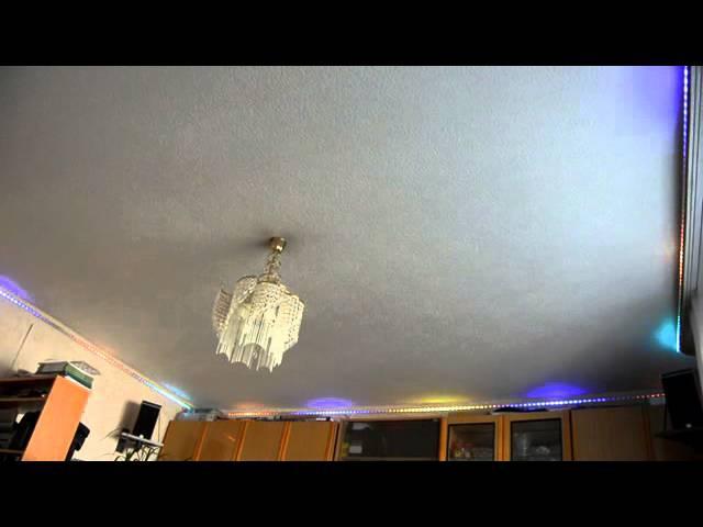 Подсветка потолка на Цветомузыкальном контроллере DiscoLux DL-PX200