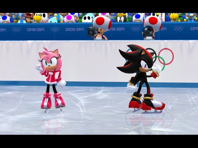 Mario and Sonic at the Sochi 2014 Olympic Winter Games Figure Skating Pairs 15