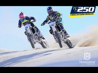 TC250 – wide open in the dunes!