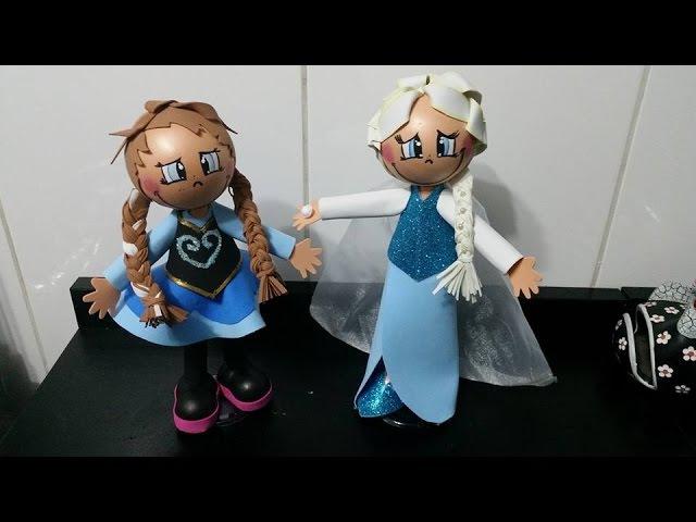 Como fazer a Rainha Elsa em eva 3d do filme frozen DIY