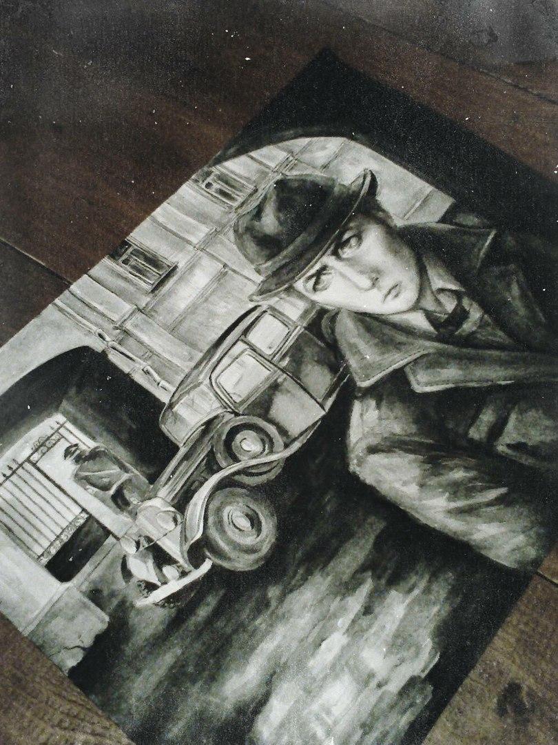 """Процесс создания картины """"Пока я жив, я временно бессмертен"""". Художник Анна Салтыкова."""