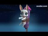 Зайка ZOOBE на русском ' До Нового года совсем недолго....!'