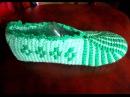 Тапочки крючком Вязание тапочек крючком Тунисское вязание Ч 1 Tunisian crochet slippers P 1