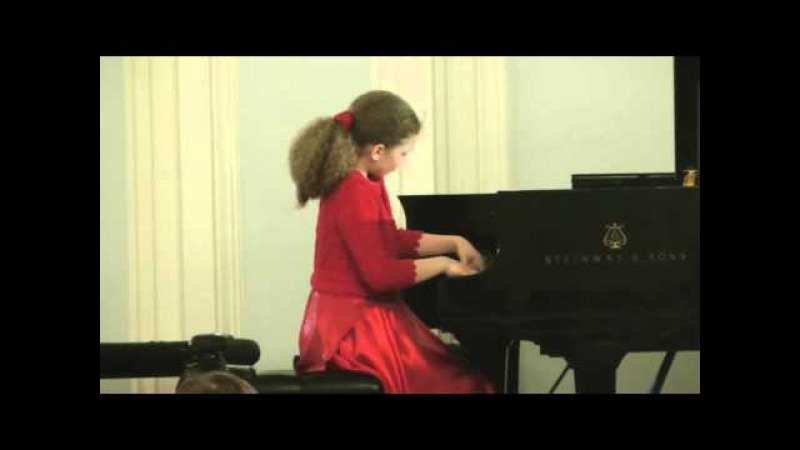 Varvara Kutuzova 12yo Grand Piano Competition 1 тур