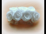 Гребень своими руками. Роза из лентыComb with your own hands. Rose from the ribbon