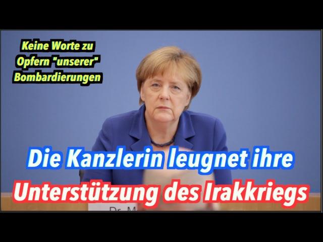 Angela Merkel leugnet, dass sie den Irakkrieg unterstützt hat