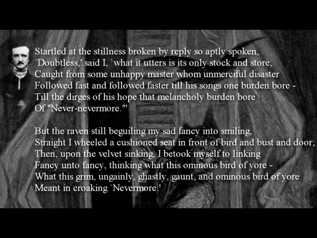 POEM ~ The Raven by Edgar Allan Poe WithText