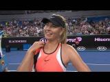 Sharapova wins on Day 1 of the Australian Open