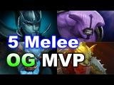 5 Melee RNG Imba Strat - OG vs MVP TI6 Dota 2