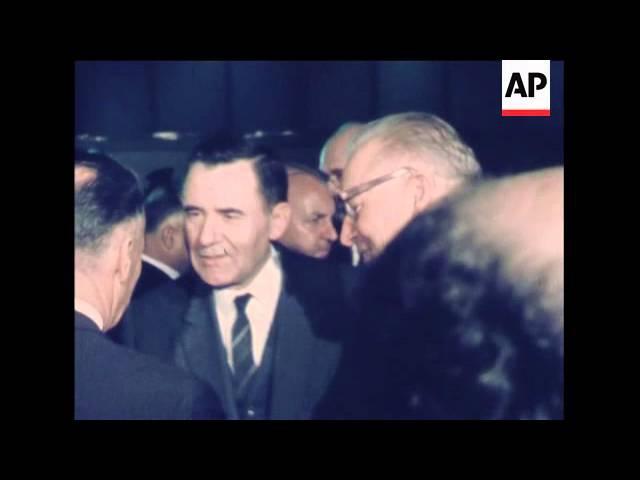 Прибытие Громыко на 24 ген.ассамблею ООН 16 ноября 1969 года