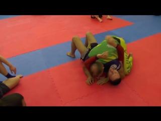 Arm traingle choke. BJJ black belt techniques
