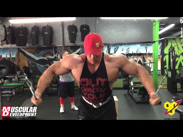 Dallas McCarver's Chest, Shoulder Triceps Workout | Muscular Development