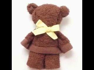 Как сделать мишку из полотенца Игрушка и просто красивый декор/How to make a Teddy bear from towels
