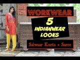 Indian Workwear options Lookbook : 5 Indianwear Looks : Workwear Desi Style