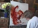 Супер видео. Художник пишет картину.