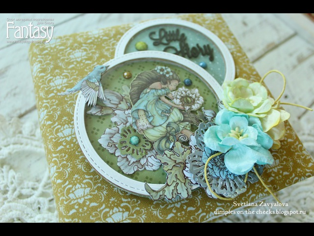Мини-альбом с феями/Fairy Mini album for girl scrapbooking