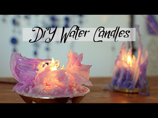DIY Gothic Water Candles - Frozen inspired | Mika chan Sailor