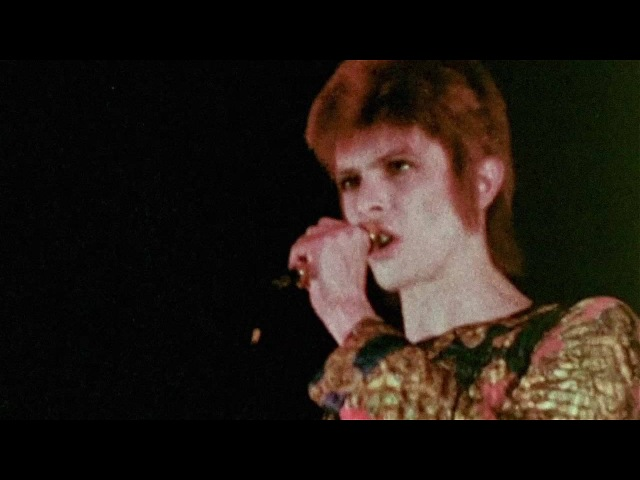 David Bowie Suffragette City live 1972 rare footage 2016 edit