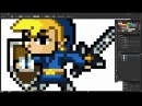 Create Pixel art in Adobe Illustrator 8 bit 16 bit Updated