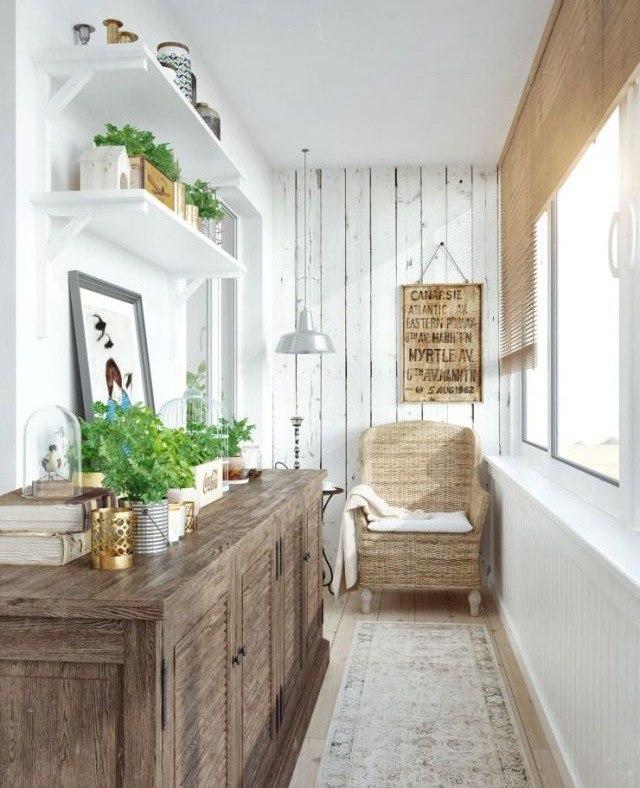 20 идей, как превратить маленький балкон в... / интерьер / и.
