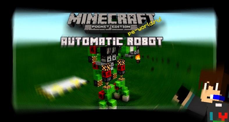 Превью для «Автоматический робот [Redstone] | Minecraft 0.15.0»