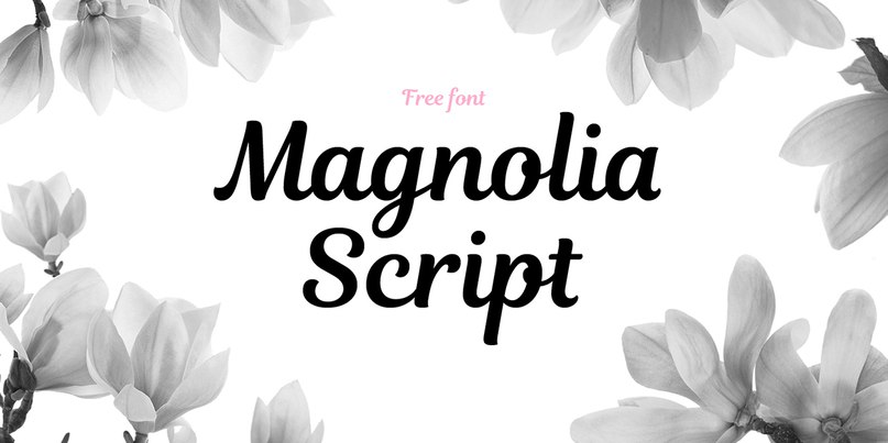 Download magnolia font (typeface)