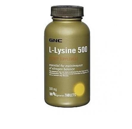 GNC L-lysine 500 mg 100 tab