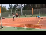 Тренировка наших спортсменов со сборной России