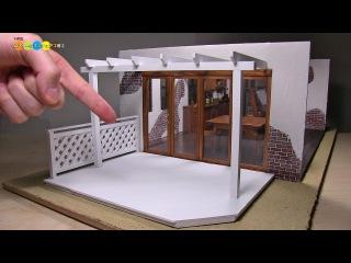 DIY Dollhouse items - Miniature Wood Deck ミニチュアウッドデッキ作り