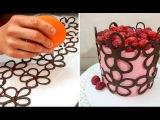 ( https://vk.com/lakomkavk) Chocolate Lace Flower Wrap Cake   CHOCOLATE HACKS by Cakes StepbyStep