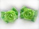Ribbon flowers \ Цветы из лент \ мастер класс \ DIY