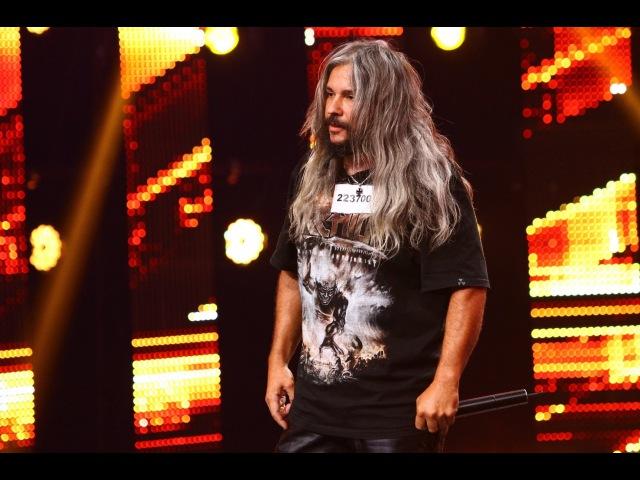 Rammstein - Du Hast. Vezi interpretarea lui Dan Raţiu, la X Factor!