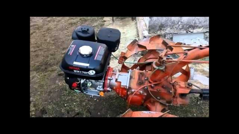 МОТОБЛОК МТЗ 05 Замена двигателя, УД 15 на WEIMA 170F